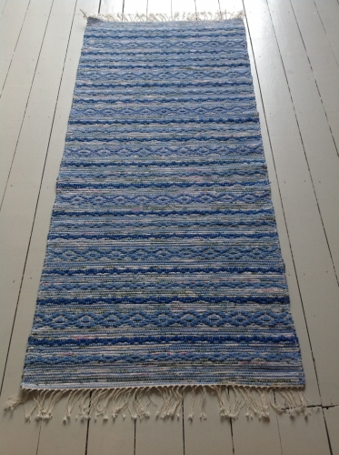 Traditional Handwoven Swedish Rug-Rosengång