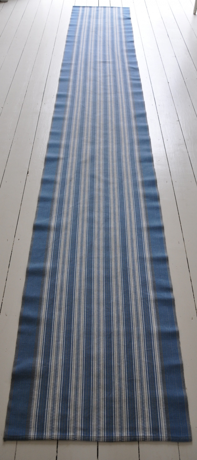 A traditional Handwoven Swedish Rips Rug -