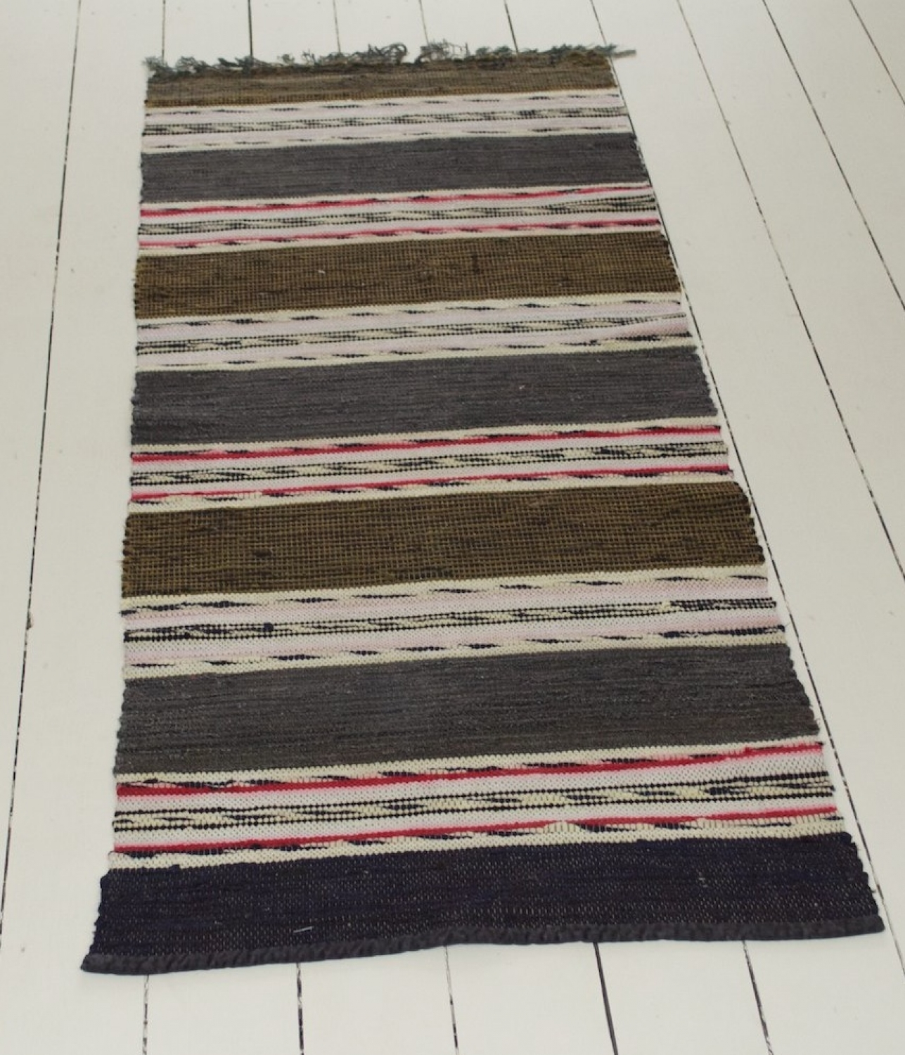 Swedish Vintage Handwoven Rug
