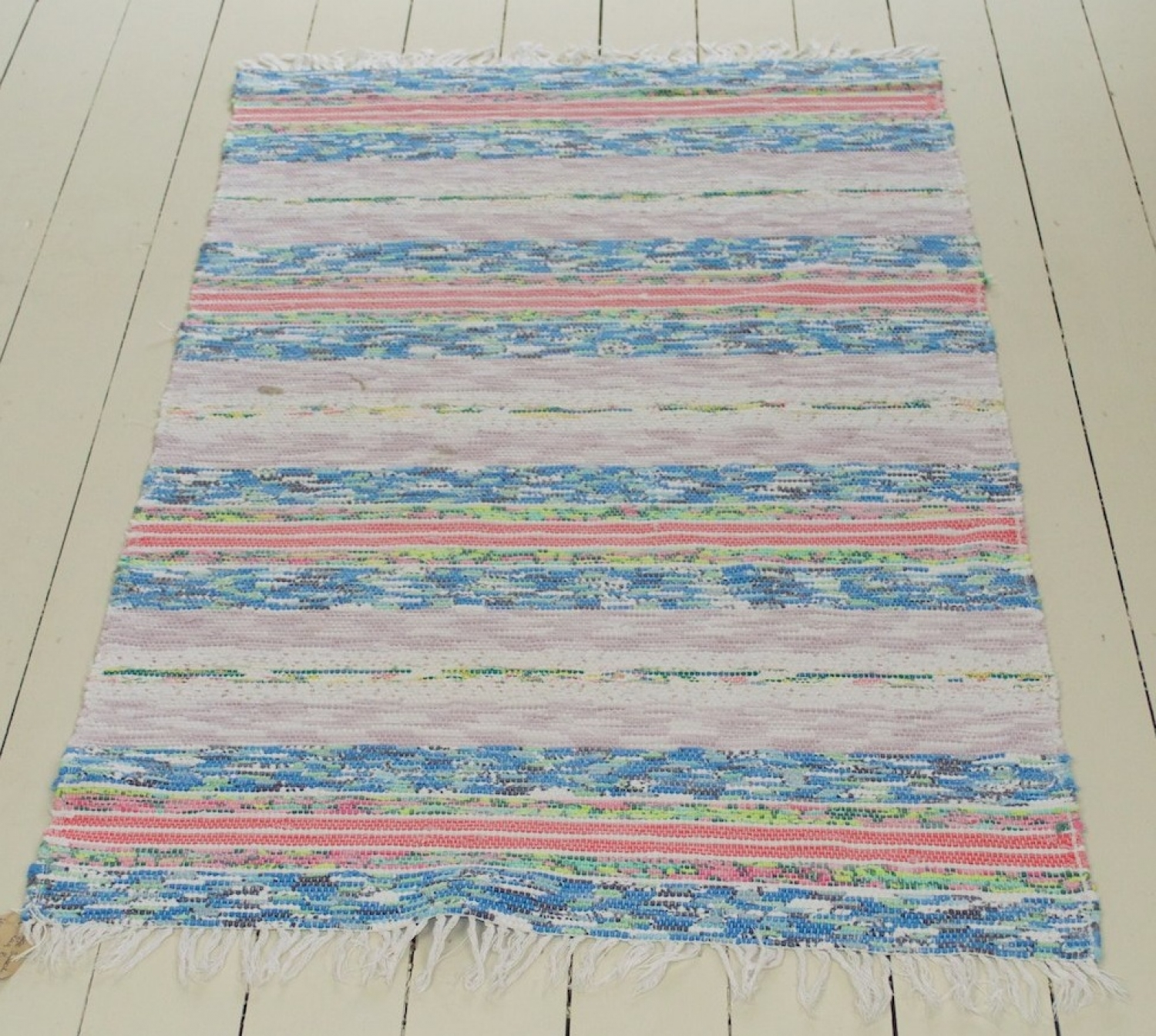 Vintage Swedish Handwoven Rug