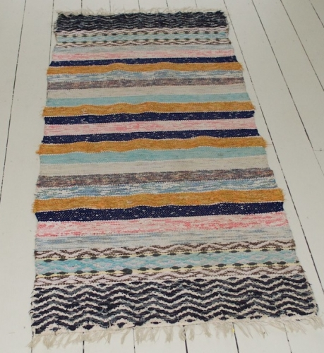 An unusual Handwoven Swedish Rug