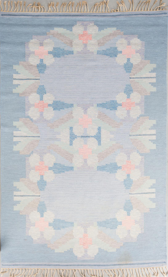 Flat weave Swedish rug by Ingegerd Silow