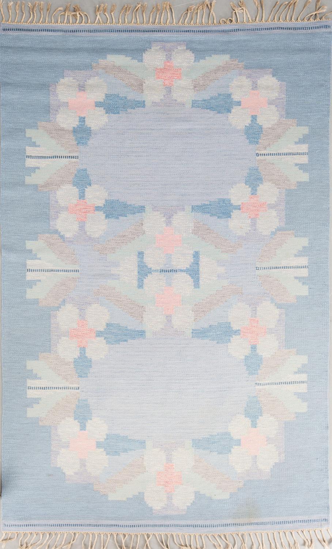 Flat weave Swedish rug by Ingegerd Silow