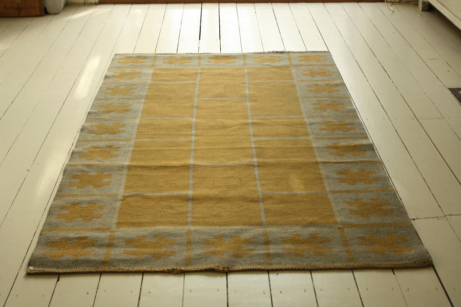 1950's Swedish Flat Weave reversible rug