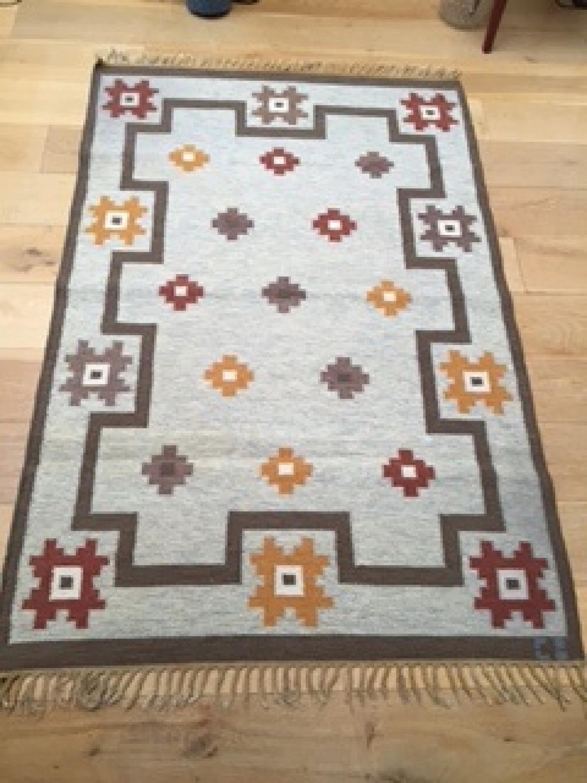 1950's Swedish Flat Weave  (Rölakan) rug