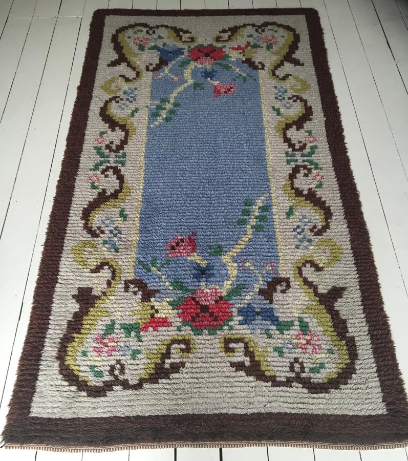 Swedish 1950's Hand Knotted