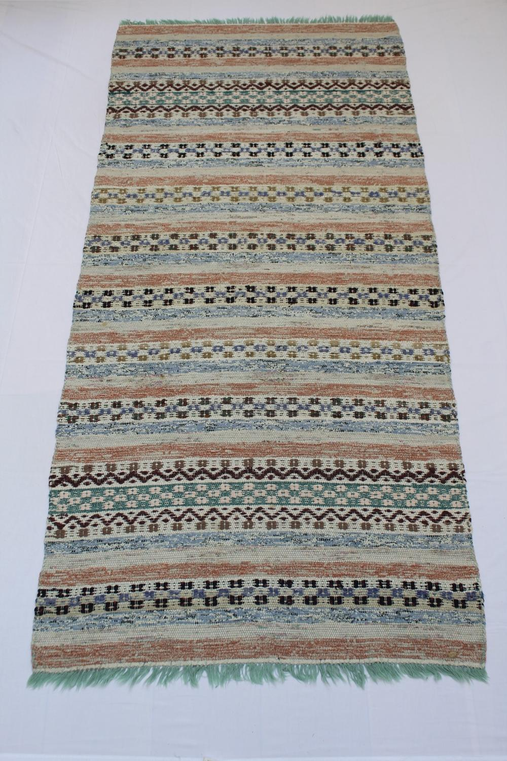 Swedish Handwoven Rug Circa 1950/60's