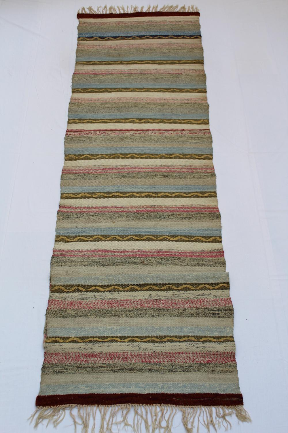 Swedish Handwoven Rug Circa 1950